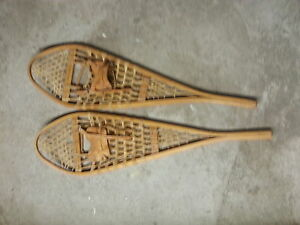 Traditional wood/gut snowshoes