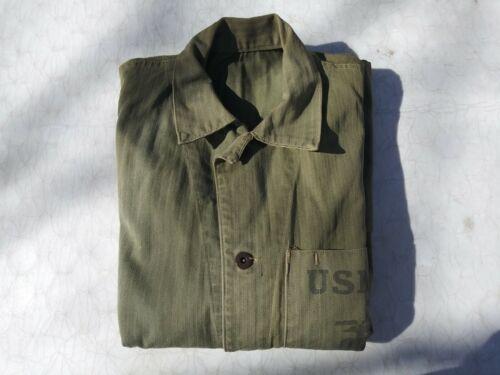 WW2 USMC Metal Buttons HBT Combat Shirt Size 42
