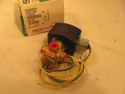 Asco Red Hat Efht8320g198 14 Solenoid 3 Way 120 Volt Ac Normally Open