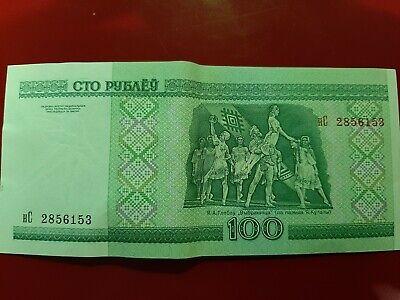 100 Rubel Weißrussland fast bankfrisch 2000 Schnäppchen!!