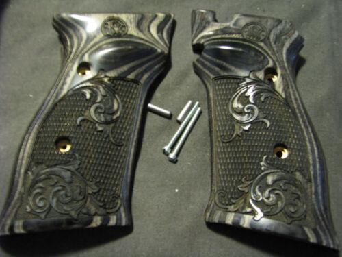 Smith & Wesson Model 41/46 Blackwood Chkd/Engrvd TargetPistolGrips w/SIDE LOGO
