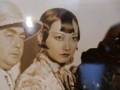 ART DECO PORTRAIT   ANNA MAE WONG SHANGHAI EXPRESS  CHINA CHINESE CREASED
