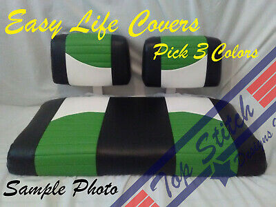 NEW #65 Club Car DS Custom Front Golf Cart Seat Covers Set Staple on DIY Club Car Golf Cart Seat Covers