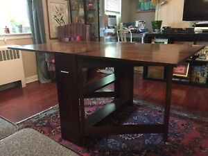 Dining room table - folds down - great for  condo/ apart