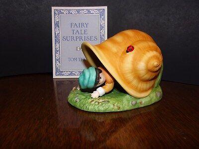 Franklin Mint Fairy Tale Surprises Fine Porcelain Tom Thumb