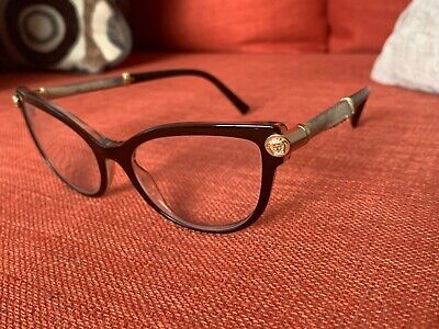 Versace V-Rock VE3270Q 5300 Top Brown-Transparent Womens Reading Glasses