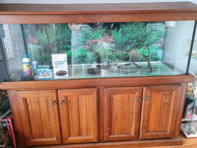 Fish Tank 5ft With Timber Cabinet And Hood Fluval 450