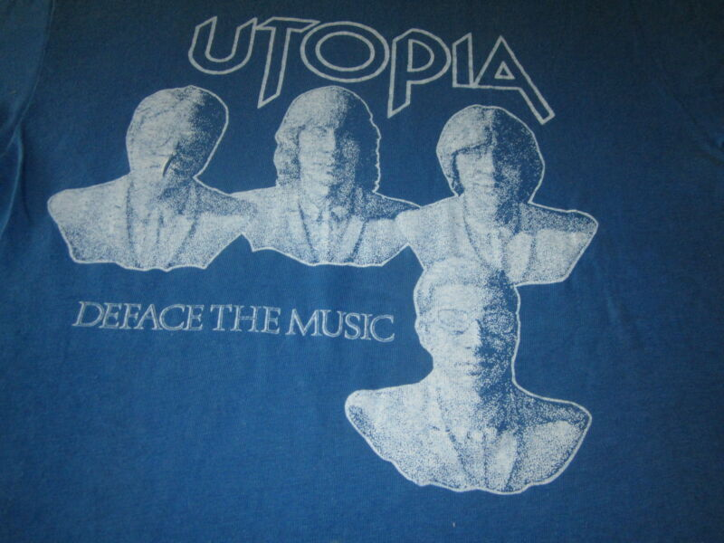 UTOPIA DEFACE THE MUSIC VINTAGE TEE SHIRT TODD RUNDGREN