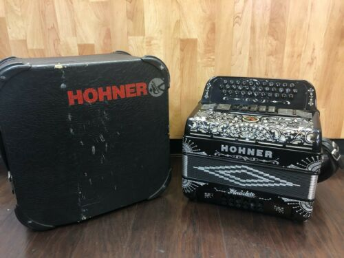 Accordion Hohner Anacleto Rey Del Norte Black & Silver WHSC