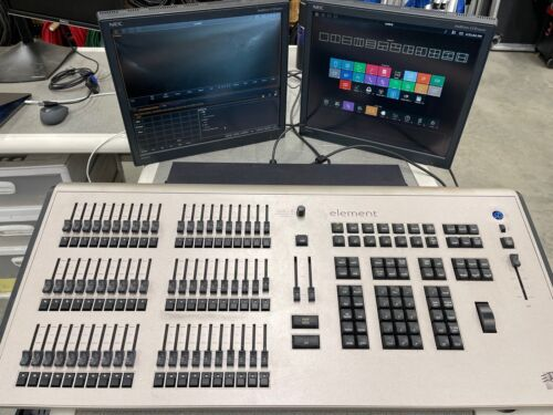 ETC - ELEMENT 60 - Theatre Lighting Control Desk  60 Faders, 250 channels - USED