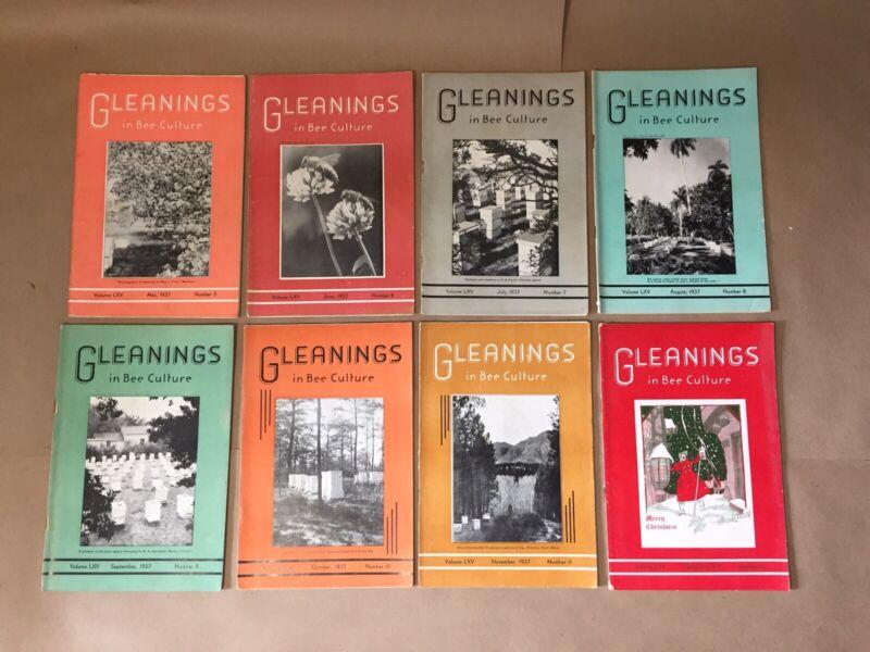 Gleanings In Bee Culture 1937 Vintage Beekeeping Books