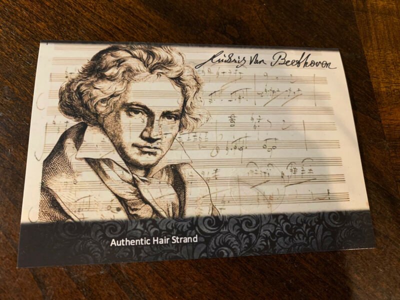 Beethoven Hair Strand Lock Piece Speck Relic not signed Music Composer museum