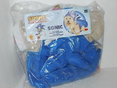Sonic Hedgehog Dog Costume Size Large Rubies Pet Shop Halloween - Costumes For Pet Hedgehogs