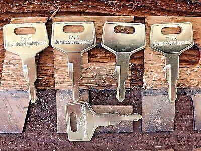 5 Takeuchi Keys For Excavator Track Loader H806