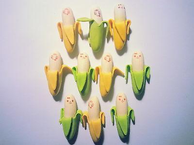 50 pcs Radiergummi Radierer Eraser Gomme Gomma per cancellare Banane Banana