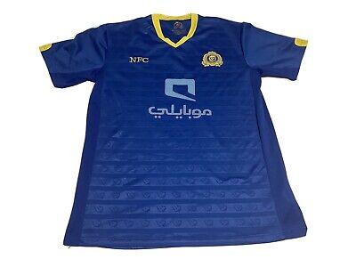 Al Nassr Saudia Arabia FC Soccer Club Jersey Size XL Blue EUC Alsalami image