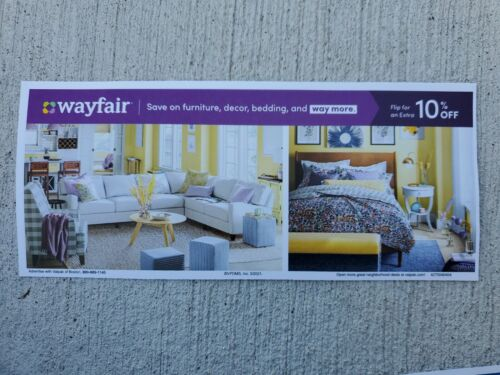 New WAYFAIR 10 COUPON OFF 1ST ORDER, EXP. 05/15/2021 Fast Delivery - $5.50