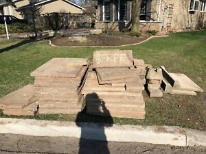 Free Patio slabs