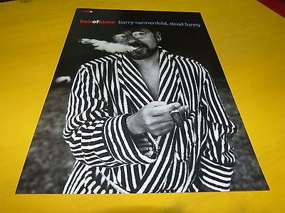 BARRY SONNENFELD - Mini poster Noir & blanc !!! UK !!!!!!