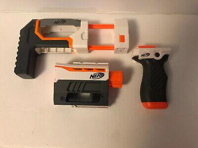 Nerf Modulus Orange White Grey Handle Grip, Barrel, Stock Attachment N-Strike A2