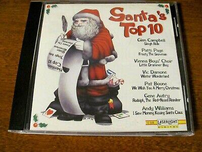 SANTA'S TOP 10 CD - CHRISTMAS MUSIC - 10 SONGS BY ORIGINAL POPULAR ARTISTS ()
