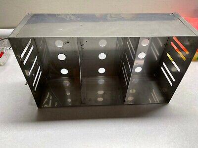Laboratory Stainless Steel 15-position Standard Box Freezer Rack 16 Deep