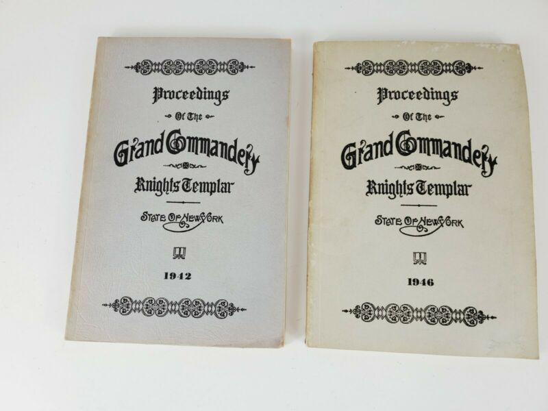 Lot of Two Proceedings of the Grand Commandery Knights Templar New York 1942 46