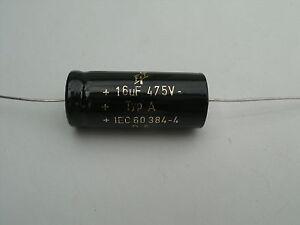 F&T Electrolytic capacitors 16uf @ 475 volt axial capacitor, tube amp capacitors
