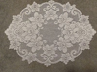 """Lace Table Doily/Placemat Ivory Cleremont design table  19"""" x 14"""""""