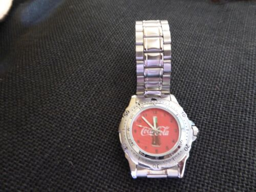 Coca Cola Coke Mens Watch Rotating Bezel Stainless NEW