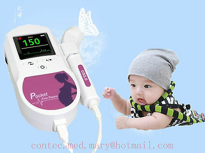 Ce Color Fetal Dopplerbaby Heart Monitor 3mhz Waterproof Probe 2y Warranty