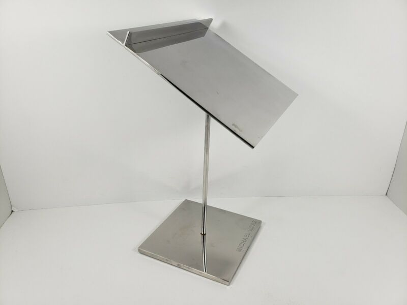 Michael Kors 11 Inch Tall Metal Reflective Display Stand
