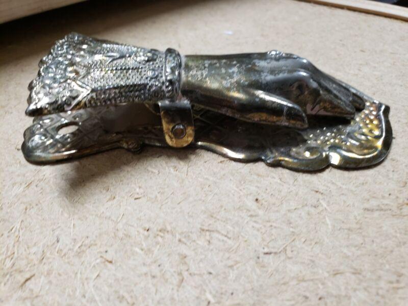 Vintage Bridalane Silver Plate Ladies Glove Note Holder Clip Japan