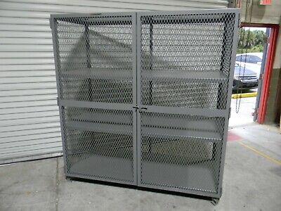 Little Giant Security Storage Cabinet 2-shelf 78 X 73 X 33 Welded Steel