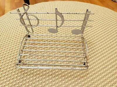 Metal Music Note Business Card Holder.