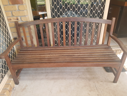 Timber stained bench seatSolid timber indoor or outdoor seat    Other Furniture   Gumtree  . Outdoor Bench Seats Gumtree. Home Design Ideas