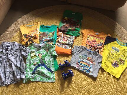 Skylanders and ben 10 kids clothes