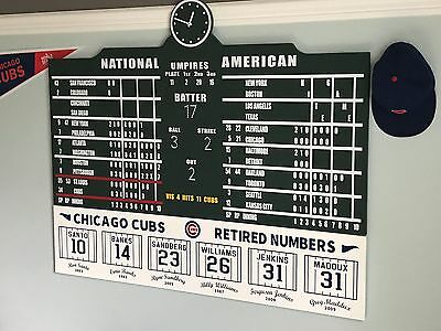 Wrigley Field Scoreboard Chicago Cubs w/ Retired Number Sign Collectible 4' Wide Chicago Cubs Retired Number