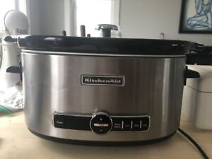 Kitchen aid stainless steel slow cooker