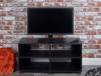 Holz-tv-ständer (4 Bereiche Breit Holz TV Ständer Möbel Einheit Wohnzimmer Aufbewahrung Medien)