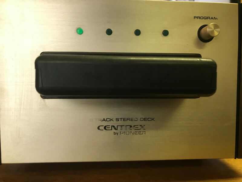 CENTREX BY PIONEER TH-30 STEREO HOME 8 TRACK PLAYER DECK W/ 8 Track NICE