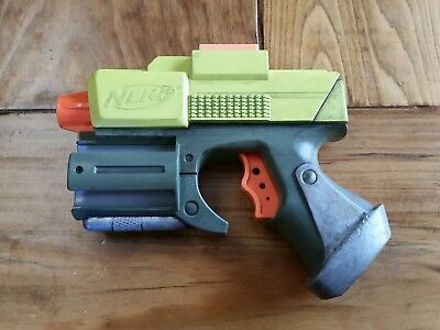 Custom Nerf Steampunk Cosplay Prop Toy Movie Glock Gun Costume Neon Green Chrome
