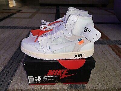 Air Jordan 1 Retro High Off White Mens Size 8.5