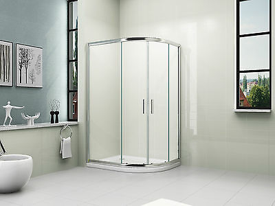 1000x800mm OFFSET QUADRANT BATHROOM SHOWER ENCLOSURE+ RIGHT HAND TRAY+WASTE