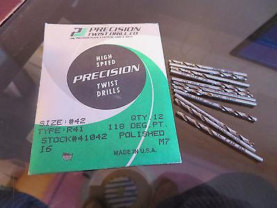 12 Pcs Precision Twist Drill Ptd 42 R41 Stub Screw Machine Length Drills 41042