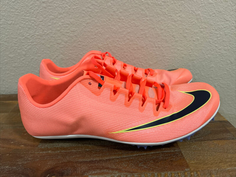 Nike Zoom 400 Track Spikes Bright Mango Atomic Pink AA1205-800 Men Sz 8