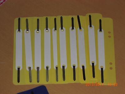 Heftstreifen 10 Stück Abheftstreifen Aktendulli Dulli Abheften verschiedene Farb