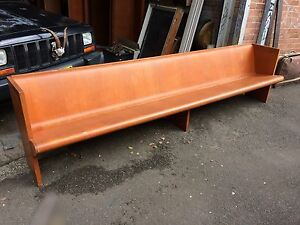 SOLD Vintage Church Pews Benches Seats Chairs Furniture Retro 60s Tempe Marrickville Area Preview