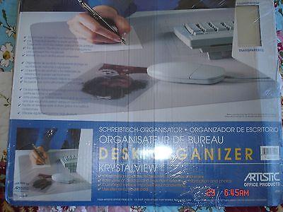 Desk Top Protector Pad Artistic Krystal View Clear Organizer Desk Pad 19
