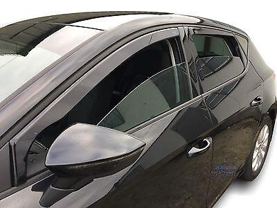 DSE28239 Seat Leon mk3 2013- up wind deflectors 4pc set Internal Fit TINTED HEKO